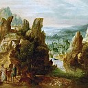 Landscape with the Apostles on the Road to Emmaus, Herri Met De Bles