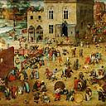 Brueghel, Pieter The Elder -- Игры детей [Childrens games] 1559-60, 118х161,, Kunsthistorisches Museum