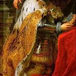 Peter Paul Rubens -- Ildefonso Atarpiece; detail of left wing with Albrecht VII, Archduke of Austria and Governor of the Netherlands, Kunsthistorisches Museum