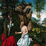 Lucas Cranach the elder -- Saint Jerome, Kunsthistorisches Museum