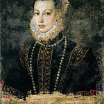 Isabella of Valois (), wife of Philip II, King of Spain, daughter of Catarina de' Medici and King Henri II of France. Around 1568 Canvas, 68 x 54 cm Inv. 3351, Sofonisba Anguissola