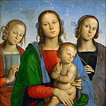 Kunsthistorisches Museum - Perugino (c. 1450-1523) -- Madonna and Child with Saints Rosa (?) and Catherine (?)