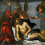Kunsthistorisches Museum - Jacopo Palma, il giovane -- Dead Christ mourned by angels