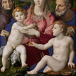 Agnolo Bronzino -- Holy Family with Saints Anne and John the Baptist, Kunsthistorisches Museum
