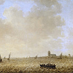 Jan van Goyen -- Seascape with View of Dordrecht, Kunsthistorisches Museum