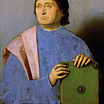 Vincenzo di Biagio Catena -- Portrait of a Man with a Book, Kunsthistorisches Museum