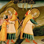 Bicci di Lorenzo -- Scenes from the Story of Tobias: Tobias bids farewell to his father; Tobias and the Archangel Raphael; Tobias takes the heart, liver and gall from a big fish, Kunsthistorisches Museum