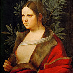 Giorgione -- Portrait of a Young Woman , Kunsthistorisches Museum