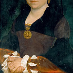 Hans Holbein the Younger -- Portrait of an English Lady, Kunsthistorisches Museum