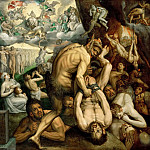 Frans Floris the elder -- Last Judgment, Kunsthistorisches Museum