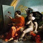 Dosso Dossi -- Jupiter, Mercury and Virtus or Virgo, Kunsthistorisches Museum
