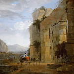 Kunsthistorisches Museum - Nicolaes Berchem the Elder (1620-1683) -- Italian Landscape with Ruined Aqueduct