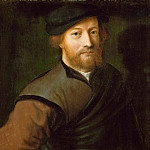 Jan van Hemessen -- Portrait of a Man in Brown and Black, Kunsthistorisches Museum