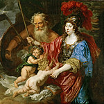 Joachim von Sandrart I -- Minerva and Saturn Protecting Art and Science from Envy and Lies, Kunsthistorisches Museum