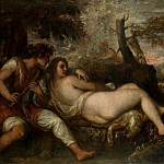 Titian -- Nymph and Shepherd, Kunsthistorisches Museum