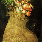 Kunsthistorisches Museum - Arcimboldo,Giuseppe -- Summer, allegory, 1563 painted for Emperor Ferdinand I. Limewood 76 x 50,8 cm Inv. 1589