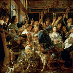 Jacob Jordaens the Elder -- Banquet of the Bean King, Kunsthistorisches Museum