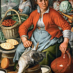 Kunsthistorisches Museum - Joachim Beuckelaer (c. 1533-1574) -- Farm Woman at the Market