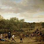 Jan Steen -- Farmers Playing at Skittles, Kunsthistorisches Museum