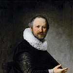 Rembrandt van Rijn -- Portrait of a Seated Man, Kunsthistorisches Museum