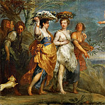Kunsthistorisches Museum - Jan Boeckhorst (1605-1668) -- Mercury Falling in Love with Herse, Daughter of King Kekrops