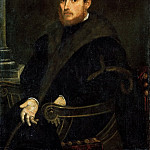 Jacopo Tintoretto -- Young Man with a Red Beard in an Armchair, Kunsthistorisches Museum
