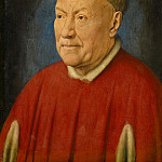 Jan van Eyck -- Cardinal Niccolo Albergati, Papal Envoy in the Spanish Netherlands, Kunsthistorisches Museum