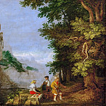 Kunsthistorisches Museum - Roelandt Savery (1576-1639) -- Mountain Landscape with Fruit Vendor