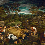 Kunsthistorisches Museum - Francesco Bassano II (1549-1592) -- Autumn (Moses Receiving the Tablets of the Law)