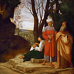 Giorgione -- Three Philosophers, Kunsthistorisches Museum