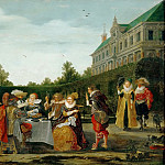 Party in a Castle Garden, Van Bram Velde
