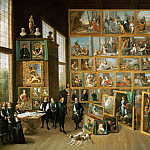 David Teniers II -- Archduke Leopold Wilhelm in his gallery in Brussels, Kunsthistorisches Museum