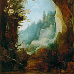 Joos de Momper the younger -- Ravine between Rocks, Kunsthistorisches Museum