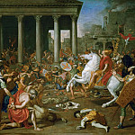 Kunsthistorisches Museum - Nicolas Poussin -- Destruction of the Temple of Jerusalem