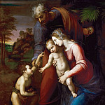 Kunsthistorisches Museum - Raphael and workshop, perhaps Giulio Romano -- Holy Family with the young Johannes