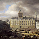 Kunsthistorisches Museum - Samuel van Hoogstraten (1627-1678) -- Main Square Within the Imperial Castle in Vienna
