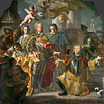 Kunsthistorisches Museum - Francesco Solimena and Johann Gottfried Auerbach -- Charles VI and Gundakar Count Althann