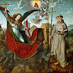 Gerard David -- Altar of Saint Michael, with Saints Jerome and Anthony of Padua, Kunsthistorisches Museum
