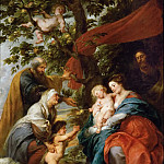 Kunsthistorisches Museum - Peter Paul Rubens -- Holy Family Resting Under an Apple Tree