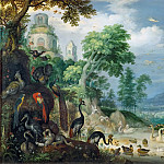 Roelandt Savery -- Landscape with Birds, Kunsthistorisches Museum