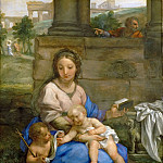 Carlo Maratti -- Madonna and Child with infant John the Baptist, Kunsthistorisches Museum