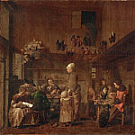 Jan Josef Horemans the Elder -- Cobbler's Workshop, Kunsthistorisches Museum