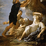 Salvator Rosa -- Astrea, Goddess of Agriculture and Fertility, Turns Away from Earth and Leaves Scales and Sword to the Shepherds, Kunsthistorisches Museum