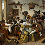 Kunsthistorisches Museum - Jan Steen -- The Topsy-Turvy World