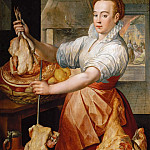 Kunsthistorisches Museum - Joachim Beuckelaer (c. 1533-1574) -- Cook with Chicken