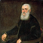 Jacopo Tintoretto -- Man with a White Beard in an Armchair, Kunsthistorisches Museum