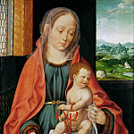 Joos van Cleve -- Saint Mary with the Christ Child, Kunsthistorisches Museum