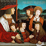 Bernhard Strigel -- Emperor Maximilian I and his Family, Kunsthistorisches Museum