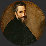 Frans Floris the elder -- Portrait of Michelangelo, Kunsthistorisches Museum