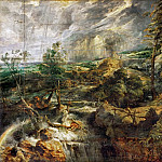 Peter Paul Rubens -- Landscape in a Thunderstorm, Kunsthistorisches Museum